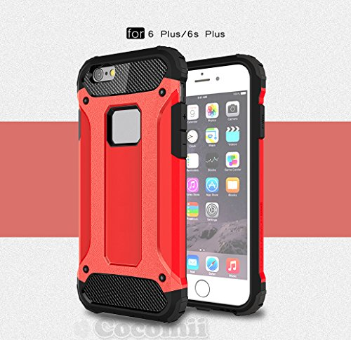 iPhone 6S Plus / iPhone 6 Plus Schutzhülle, Cocomii® [HEAVY DUTY] Commando Case *NEUE* [ULTRA BONIC RÜSTUNG] Premium Staubdicht Stoßfest Hülle Bumper [MILITARY DEFENDER] Voller Körper Robuste Dual Lay Red