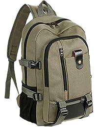 Clode® Bolsa de mens Vintage viaje lona mochila mochila mochila escuela deporte Camping Senderismo