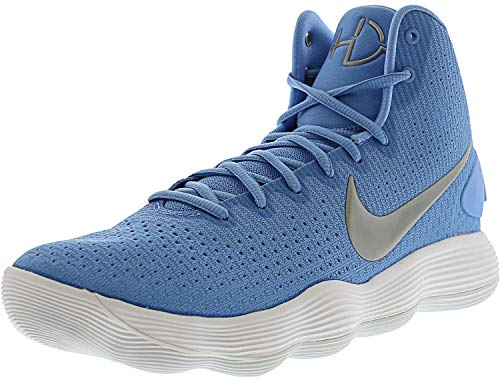 7f3c8986dfd421 NIKE Men s React Hyperdunk 2017 University Blue Metallic Silver White Nylon  Running Shoes 10.5