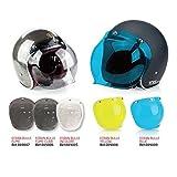 Ecran bulle 3 pressions pour casque moto jet incolore