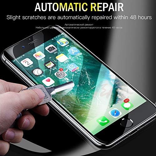 Zzdghm Película Curva 4D iPhone 8 7 Plus 6s Protector