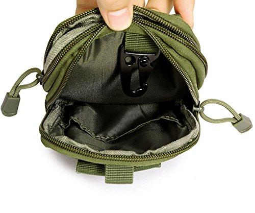 Ueasy Compatto multiuso Borsa marsupio tattico Molle EDC campeggio trekking Pouch Purse Cell Phone Case Utility Gadget Pouch Strumenti tattico Pouch, CP Marrone chiaro