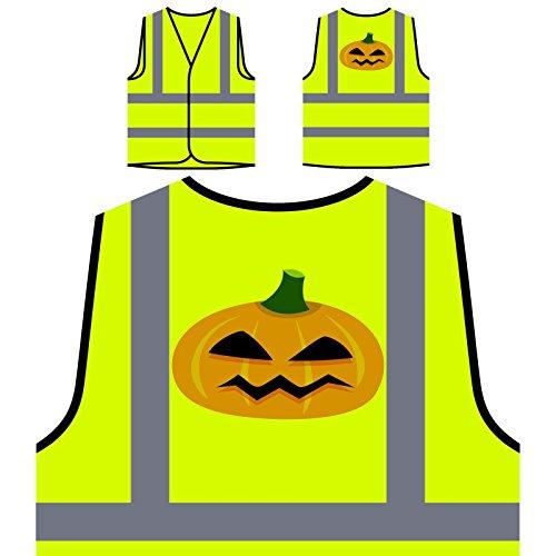 nst Personalisierte High Visibility Gelbe Sicherheitsjacke Weste q362v (Halloween-kürbis-kunst)