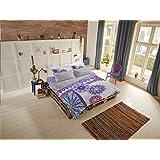Hip Mako satijnen beddengoed 2-delig dekbedovertrek 240 x 220 cm kussensloop 60 x 70 cm jayanti 6101.03.03 grijs