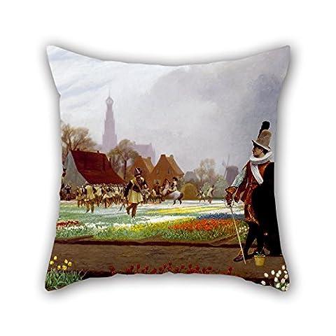 Artistdecor Oil Painting Jean-Léon Gérôme - The Tulip Folly Pillowcase ,best For Son,dance Room,festival,monther,pub,valentine 16 X 16 Inches / 40 By 40 Cm(2