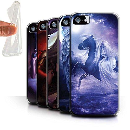 Officiel Elena Dudina Coque / Etui Gel TPU pour Apple iPhone 5/5S / Reine des Glaces Design / Super Héroïne Collection Pack 9pcs