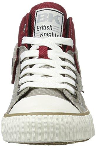 British Knights Herren Roco High-Top Rot (burgundy/lt grey/black)