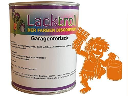 Garagentorlack Tieforange RAL 2011 Seidenglanz 750ml -