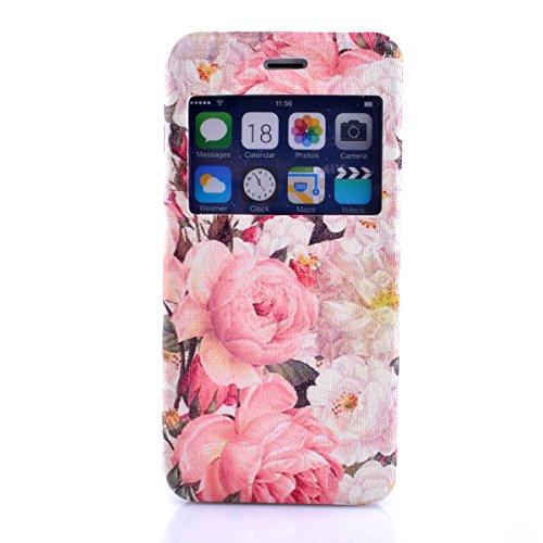 iPhone 6S Copertura,iPhone 6 Custodia, iPhone 6S case,iPhone 6 cover,Floreale flowers PU Flip di portafoglio in pelle Case per iPhone 6S /6 4.7 inch-colour colour3