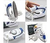 #5: Saiyam Travel Iron - Folding Handel Portable Powerful Mini Electrical Palm Size Steam Iron Press With 3 Gears Teflon Base plate, White