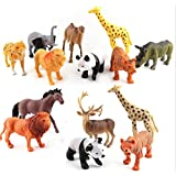 Funny Teddy 12 Pc Wild Animal Toy Set - Educational Learning Game For Kids | Animal Figures | High Quality | Large Size | Birthday Gift (Wild Animals)