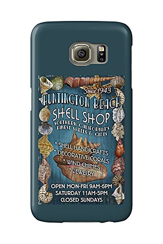 Huntington Beach, California - Shell Shop Vintage Sign (Galaxy S6 Cell Phone Case, Slim Barely There)