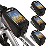 Jazooli Cycling Bike Bicycle Frame Pannier Front Tube Pouch Bag Mobile Phone Holder - Red