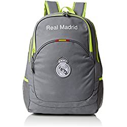 076501 Real Madrid Mochila Tipo Casual, 20 litros, Color Gris