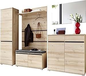 germania 8797 228 6 tlg garderoben set gw lissabon in edelbuche nachbildung 260 x 200 x 40 cm. Black Bedroom Furniture Sets. Home Design Ideas