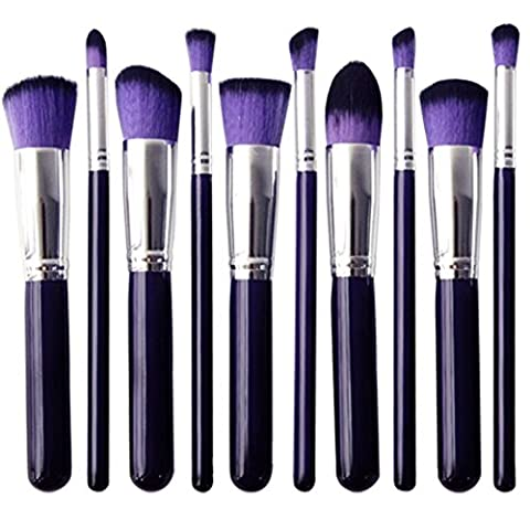 Skyblue-uk Kit De Pinceau Maquillage Professionnel 10PCS Manches en Bois