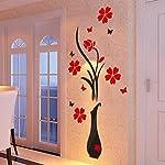Wall-Sticker-Adesivi-da-Parete-DIY-Vaso-Fiore-Albero-Cristallo-Adesivi-Murali-3D-Home-Decor