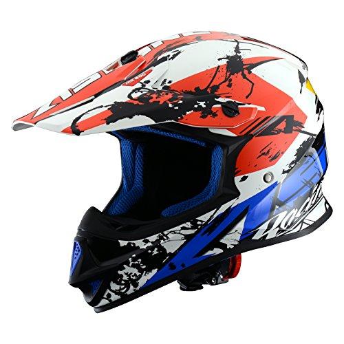 Astone Helmets, Auriculares Giant Glitter, color Rojo/Blanco/Azul, talla XL