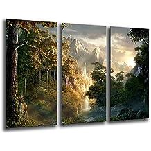 Cuadro Moderno fotografico base madera, 97 x 62 cm, EL Señor de los Anillos ref. 26222