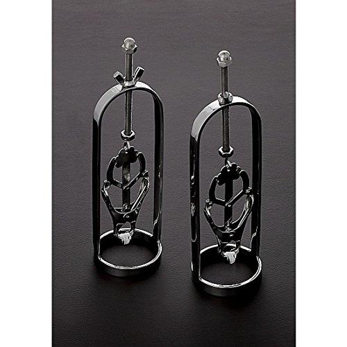 Triune 2 verstellbare Nippel-Tugger mit Kleeblatt aus Edelstahl, 312 g