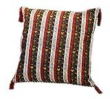 Weiß,Rot,Braun,Kissenbezug,Kissenhülle,Orientalische Dekokissen,Orientalische Stoffe,Damaskunst S 2-2-402