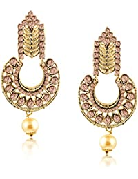 Meenaz Fashion Jewellery Traditional Gold Plated Pearl Crystal Earrings For Women Party Wear Stylish Designer... - B075VTMQPC