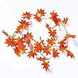 Künstliche Blätter, Zimmerpflanzen Pflanzen Rotes Ahornrattan dreidimensionale rote Ahornblätter 36 Blätter 5pcs