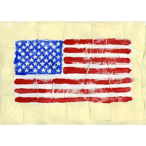 PB United States Of America Flag Peel & Stick Vinyl Wall Sticker 22.6 x 16inch (Stick State Flag)