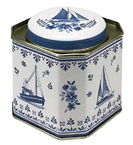 Dose Friesisch Blau Schiff 10,5 x 10,5 x 10,5 cm Teebüchse