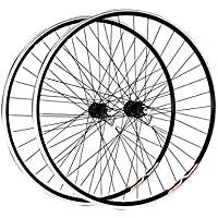 Wilkinson 700c - Set ruote Shimano 8/9, mozzo RM30, cerchi Mach Exe 36H tipo ibrido, nero, nero (nero), 700 c