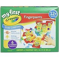 Crayola Pintura lavable para dedos 81-1429, 6 tubos de compresión