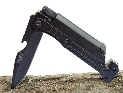 falkes Survivalmesser, Klappmesser Adventure - 6 in 1 - Waffengesetzfreies Outdoormesser für...