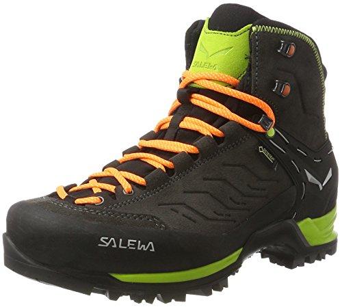 Salewa Herren Mtn Trainer Mid Gore-Tex Bergschuh Trekking-& Wanderstiefel, Mehrfarbig (Black/Sulphur Spring 0974), 43 EU