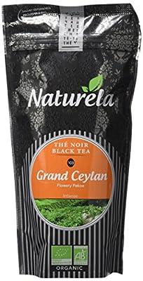NATURELA Thé Noir Grand Ceylan Flowery Pékoe Bio N° 103 100 g - Lot de 6