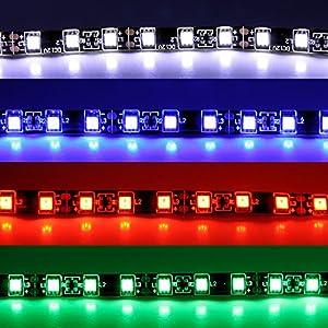 Wei/ß 5PCS Qiorange 5x 30cm 15 SMD Wei/ß LED Strip Leiste Lichterkette Streifen Auto KFZ 12V Wasserdicht
