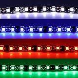 LED Stripe - rot weiß blau grün - 30 cm / 50 cm (19,97€/m) SMD selbstklebend 12V 3M Streifen Innenraumbeleuchtung Innenraum (30cm, weiß)