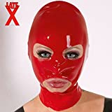 LATE X Latex-Kopfmaske rot, 1 Stück