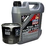 LIQUI MOLY Top Tec 4300 5W-30 3741 + MANN FILTER Ölfilter W 67/1