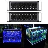 Hengda 2 Mode Eclairage Aquarium LED étanche Lumiere Aquarium Plantes Éclairage Aquarium pour Aquarium de 30-45 CM