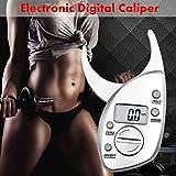 Körperfett Sattel, Digital LCD Koerperfettzange Hautfaltendicke Gesundheit Fitness Gewichts Geschlecht.