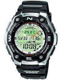 CASIO Collection AQW-101-1AVER - Reloj de caballero de cuarzo, correa de resina color negro (con cronómetro, alarma, luz)