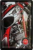 Blechschild 20x30 cm Zündapp Motorrad Motor Bike historisch Oldtimer Werbung Plakat Reklame Werkstatt Metall Schild