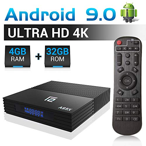 A95X F2 Android TV Box 【4G+32G】 Android 9.0 Smart TV Box Amlogic S905X2 Quad-Core Dual-WiFi 2.4G/5.0G/ 3D 4K Ultra HD/H.265/ USB 3.0/ HDMI 2.0 WLAN-Media-Player/Android-Set-Top-Box Dual-hdmi-set