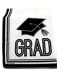 Creative Converting 36 Graduation Beverage Cocktail Napkins Paper - Graduation Cap