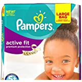 Pampers Active Fit Size 5+ Large Pack 135 Nappies