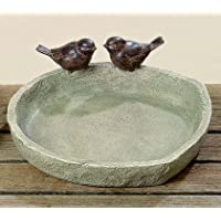 Bebedero Ø 21cm marrón resina pájaros (Voegel)