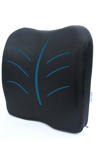 Medi Body Orthopädisches Rücken Kissen, Ergonomische Lendenkissen/Lordosenstütze Sitzpolsterung im Auto, Bürostuhl, Reisen zur Rückenstützung
