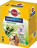 Pedigree DentaStix Fresh Hundeleckerli für große Hunde, Kausnack gegen Zahnsteinbildung, Für gesunde Zähne und einen frischen Atem, 4 Packungen je 28 Stück (4 x 28 Stück)