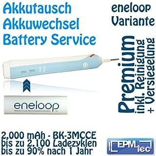 Akkutausch für Braun Professional Care 1000 2000 3000 Service Oral-B wahlweise mit 1300 oder 1400 mAh Akku oder 2000 bis 2550 mAh ENELOOP (3MCCE / 3HCCE) LSD Akku (2000mAh 3MCCE Eneloop - Premium (mit Reinigung))