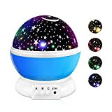 Nachtlicht Kind Sternenhimmel Projektor Lampe Rotierendes Licht Traumhaft 16 Modi USB oder Batterie Betrieben